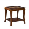 Southern Enterprises Cambria Brown Cherry Square End Table
