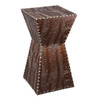Boston Loft Furnishings Warrington Warm Brown and Black Alligator Square End Table