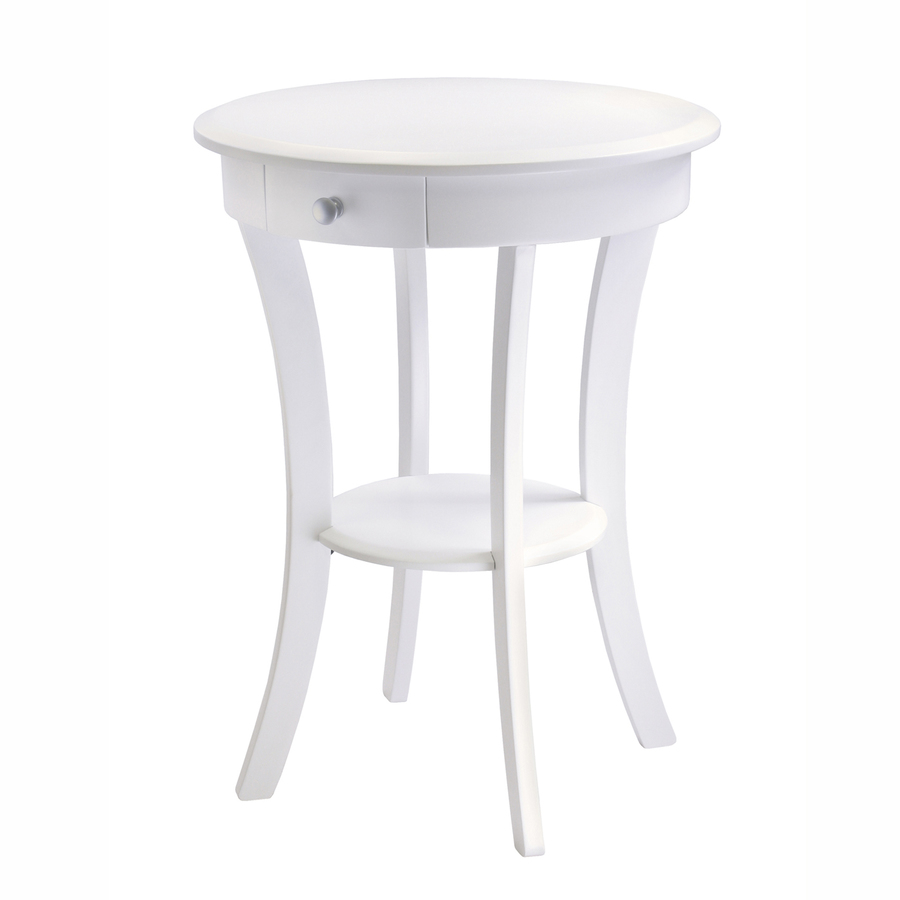 shop winsome wood white round end table at