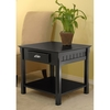 Winsome Wood Black Square End Table