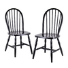 Winsome Wood Set of 2 Black Dining Chairs
