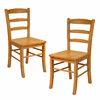 Winsome Wood Set of 2 Hannah Light Oak Side Chairs