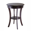 Winsome Wood Cappuccino Round End Table