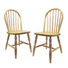 Winsome Wood Set of 2 Natural Side Chairs