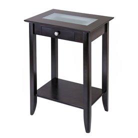 Shop winsome wood dark espresso rectangular end table at lowes com