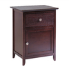 Winsome Wood Antique Walnut Rectangular End Table