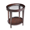 Magnussen Home Carson Sienna Cherry Oval End Table