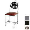Grace Collection Silhouette Gun Metal Dining Chair