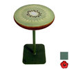 Grace Collection Art Jade Teal Metal Round End Table