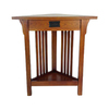 Wayborn Furniture Oak Birch Corner End Table