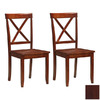 Boraam Industries Set of 2 Madison Cherry Dining Chairs