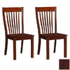 Boraam Industries Set of 2 Grantsville Cherry Dining Chairs