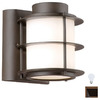 Philips Forecast Hollywood Hills 6-in Deep Bronze Outdoor Wall Light