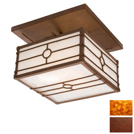 Steel Partners 20-in Rust  Semi-Flush Mount Light
