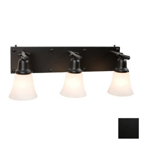 shop steel partners 3 light rivets black bathroom vanity