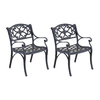 Home Styles Biscayne 2-Count Black Aluminum Dining Chair