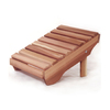 All Things Cedar 24-in L x 20-in W x 14-in H Wood Stool