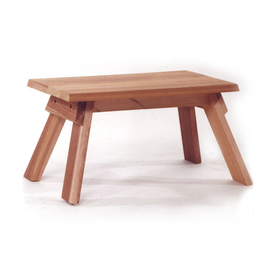 All Things Cedar 18-in L x 12-in W x 10-in H Wood Stool