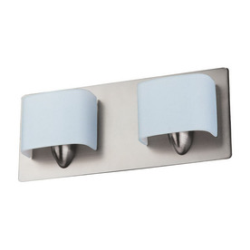 Long Bathroom Vanity Lights : Shop DVI 2-Light Long Beach Buffed Nickel Bathroom Vanity Light at Lowes.com