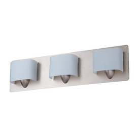 Long Bathroom Vanity Lights : Shop DVI 3-Light Long Beach Buffed Nickel Bathroom Vanity Light at Lowes.com