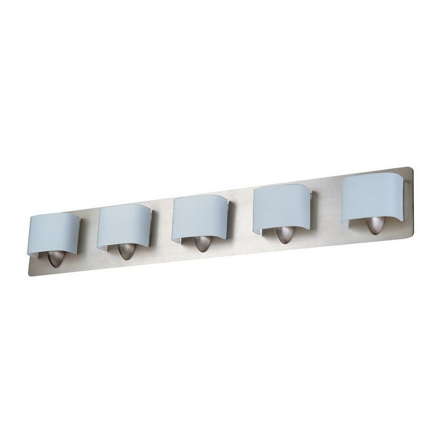 Shop DVI 5-Light Long Beach Buffed Nickel Bathroom Vanity Light at Lowes.com