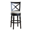 Greystone Brevard Antique Black 30-in Bar Stool