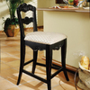 Powell Hills of Provence Antique Black 24-in Counter Stool