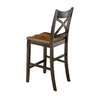 Liberty Furniture Cafes Merlot/Acacia 24-in Counter Stool