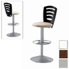 Trica Tuyo Silver 32.5-in Adjustable Stool