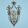 Millennium Lighting 36-in W Iron Gate Burnished Gold Pendant Light
