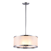 DVI Milan 16-in W Chrome Pendant Light with Tinted Glass Shade