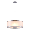 DVI Milan 18.5-in W Chrome Pendant Light with Tinted Glass Shade