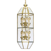 Volume International 16-in W Polished Brass Pendant Light with Clear Shade