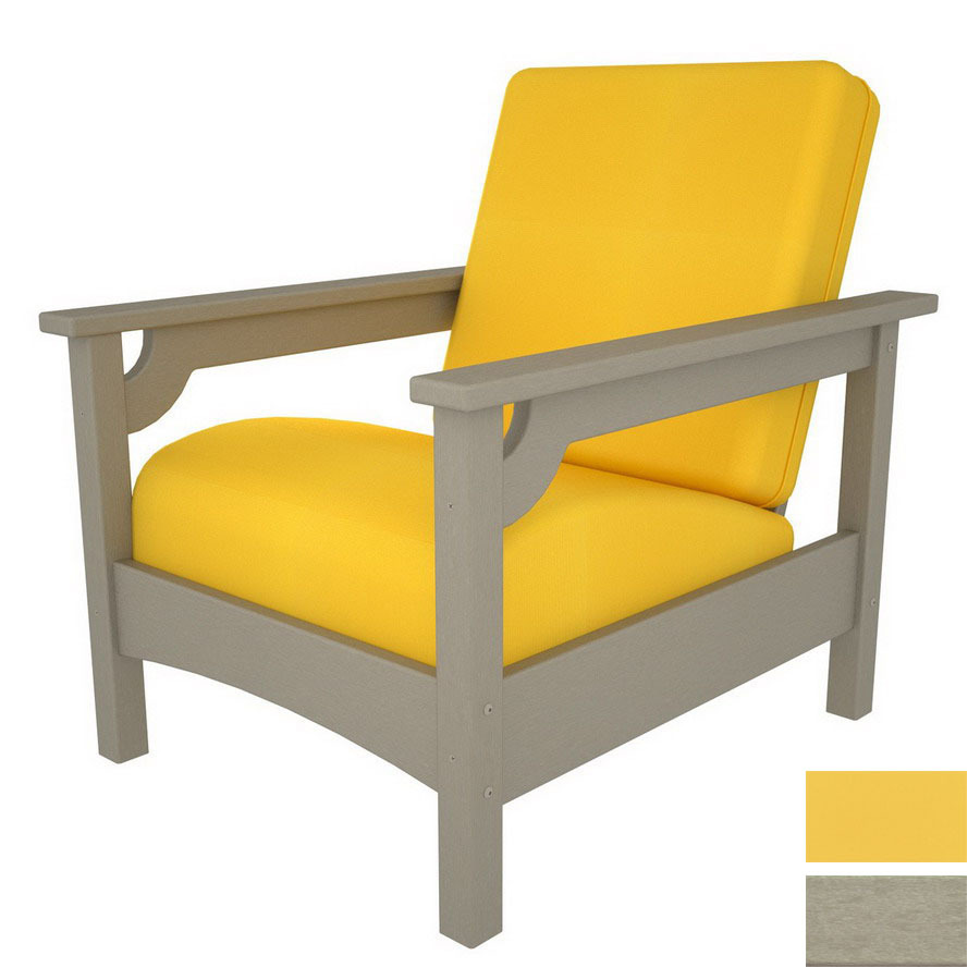 Yellow plastic outdoor chairs generations upright for Outdoor furniture yellow