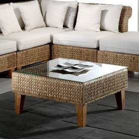 Shop hospitality rattan seagrass natural square coffee for Seagrass coffee table