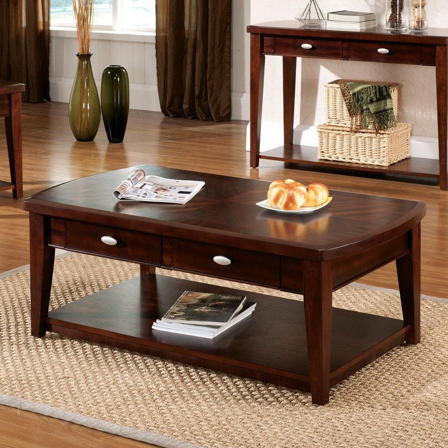 Shop Steve Silver Company Huntington Dark Cherry Rectangular Coffee Table At