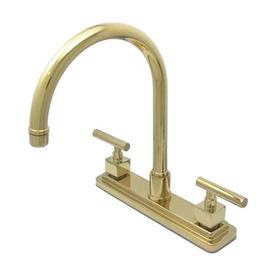 Shop Elements Of Design Claremont Polished Brass 2 Handle High Arc Sink Counter Mount Kitchen