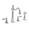 Premier Faucet Sonoma Chrome 2-Handle High-Arc Kitchen Faucet with Side Spray