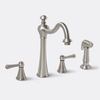 Premier Faucet Sonoma Brushed Nickel 2-Handle High-Arc Kitchen Faucet with Side Spray