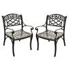 Crosley Furniture Sedona 2-Count Charcoal Black Aluminum Patio Conversation Chairs