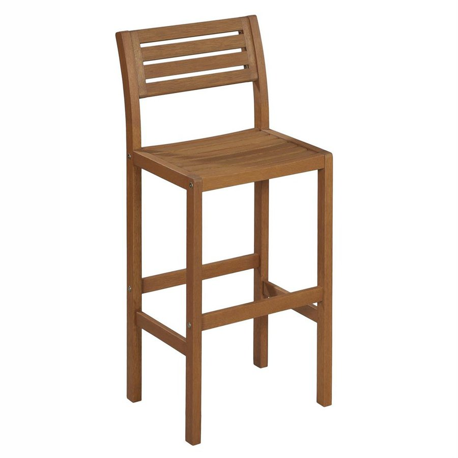 styles montego bay slat seat wood patio bar height chair at: bar height patio chair