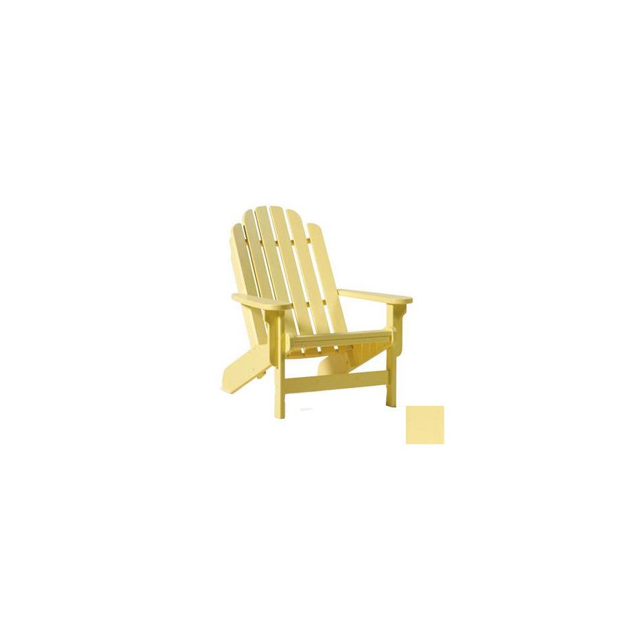 yellow plastic adirondack chairs