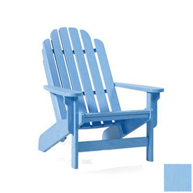 shop siesta furniture bayfront light blue plastic adirondack chair at