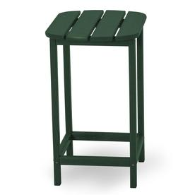 POLYWOOD South Beach Adirondack 19-in x 15-in Green Rectangle Patio Side Table