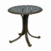 Hospitality Rattan Panama Jack 20-in x 20-in Espresso Extruded Aluminum Round Patio Side Table