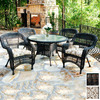 Tortuga Outdoor 5-Piece Steel Patio Dining Set