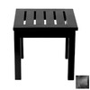 ACHLA Designs 17.5-in x 17.5-in Black Wood Square Patio Side Table