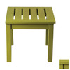 ACHLA Designs 17.5-in x 17.5-in Sweet Pea Wood Square Patio Side Table