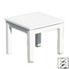 ACHLA Designs 17.5-in x 17.5-in White Wood Square Patio Side Table
