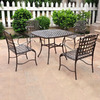 International Caravan 5-Piece Wrought Iron Patio Dining Set